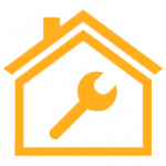 0703753d395c2e3cfa63ad1f58c38091 wrench in house icon by vexels